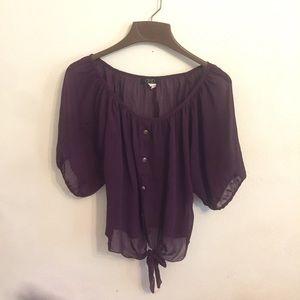 Deb deep purple flowy shirt